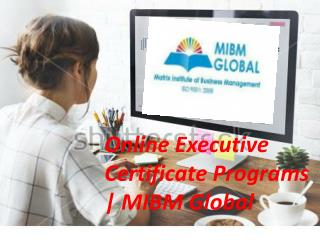 Online Executive Certificate Programs your business cannot survive for long.