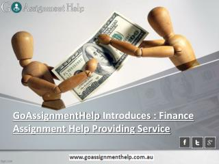 GoAssignmentHelp Introduces Finance Assignment Help Providing Service