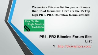 Bitcoin Forums Submission