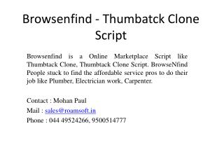 Browsenfind - Thumbtack Clone Script