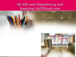 ldr 535 rank Empowering and Inspiring/idr535rank.com