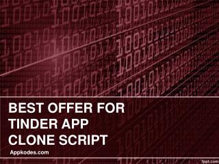 Best Offer for android and Ios clone script