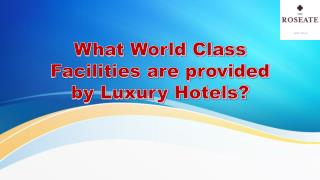 What World Class Facilities are provided by Luxury Hotels?