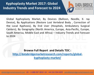 Global Kyphoplasty Market Trends and Overview 2024