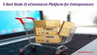 5 best node js ecommerce platform for entrepreneurs