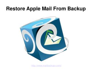 Restore Apple Mail from Backup