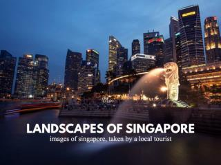 Landscapes of Singapore : Photography by a local tourist