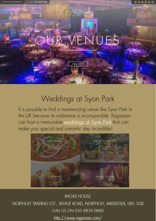 Weddings at Syon Park