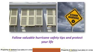 Follow valuable hurricane safety tips and protect your life