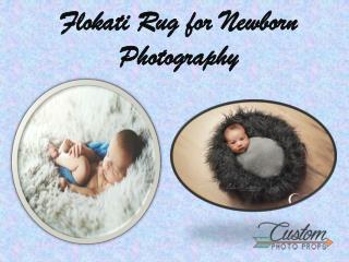 Flokati Rug for Newborn Photography