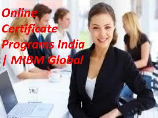 Online Certificate Programs India