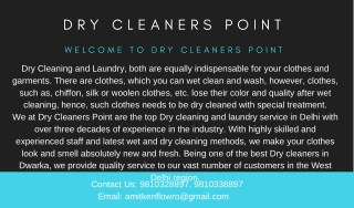 Dry Cleaning Services In Janak Puri