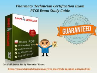 PTCB PTCE Exam Best Study Guide - PTCE Exam Questions Answers
