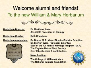 Welcome alumni and friends