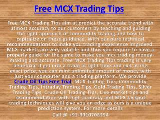 Gold Silver Trading Tips, Live market tips with High Accuracy