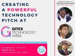 Gitex Dubai 2017 - CDN Solutions Group is ready to Create a Powerful Technology Pitch