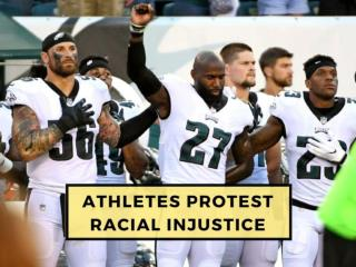 professional athletes protesting racial injustice