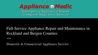 Appliance Repair Services | Appliance Medic