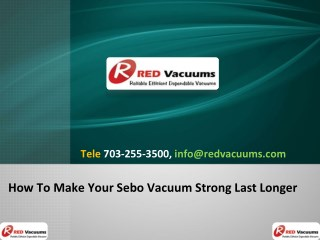 How To Make Your Sebo Vacuum Strong Last Longer