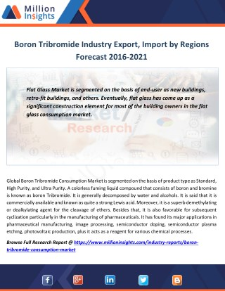 Boron Tribromide Industry Manufacturers Analysis Forecast 2021 By Revenue Margin