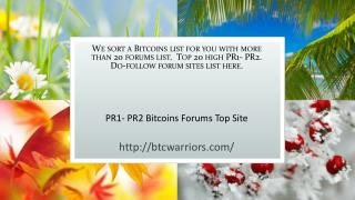 Bitcoins Community Forums