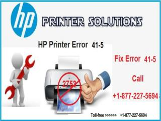 How to Fix HP Printer Error Code 41.5? 1-877-227-5694