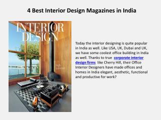 4 Best Interior Design Magazines in India