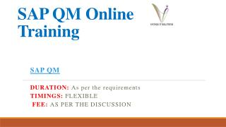 SAP QM Course Content | SAP QM Online Training in Hyderabad