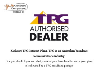 TPG Internet - Great Choice For Anyone