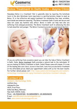 Botox Treatment in Delhi India – Aayna