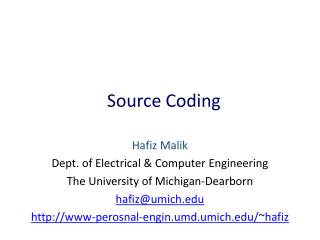 Source Coding