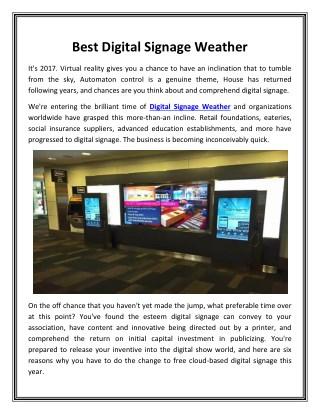 Best Digital Signage Weather_Dynasign