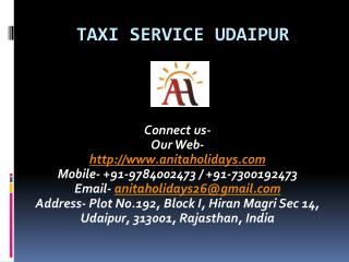 Taxi Service Udaipur