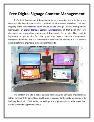 Free Digital Signage Content Management_Dynasign