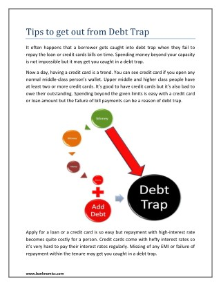 Tips to get out from Debt Trap