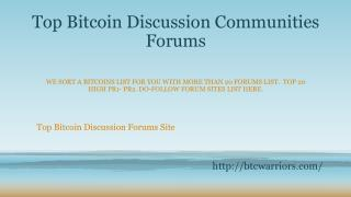 Best Cryptocurrency Forums uk