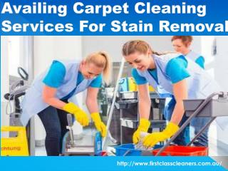 Steps To Be Taken Before Availing Carpet Cleaning Services For Stain Removal