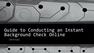 Guide to Conducting an Instant Background Check Online