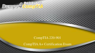 Get 220-901 Exam BrainDumps - CompTIA 220-901 PDF