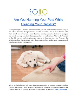 Rug Cleaning | Carpet Cleaning NYC | Soho Rug Cleaning