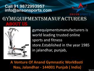Opt for the ultimate gym equipments manufacturers in Jalandhar