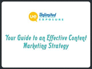 Your Guide to an Effective Content Marketing Strategy