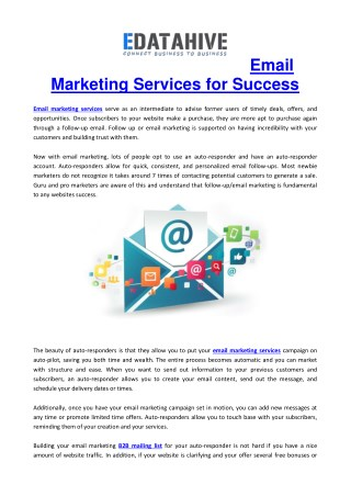 Choosing the Best Email Marketing Service Providers