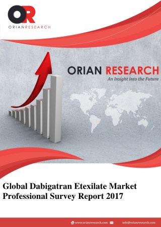 Dabigatran Etexilate Market Sales Industry Will Gain Demand in International Market Till 2022