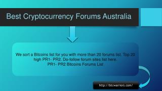 Best Cryptocurrency Forums Australia