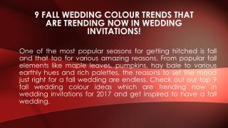 9 fall wedding color trends that are trending now in wedding invitations!