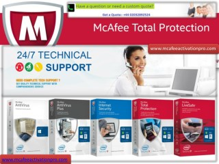 McAfee Antivirus Install & Activate - mcafee.com/activate card
