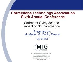 Corrections Technology Association Sixth Annual Conference