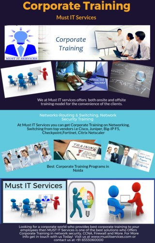 Corporate Training Services  Noida