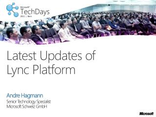 Latest Updates of  Lync  Platform
